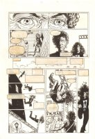 Shadowman #28 p.9 - Shadowman Jumps off a Rooftop - 1994 Comic Art