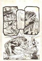 Shadowman #32 p.18 - Shadowman Playing the Saxophone - 1994 Comic Art