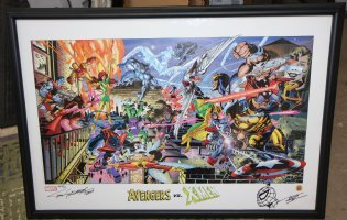 Avengers vs. X-Men Print - 2000/2003 Signed and Numbered AP 2/10 Comic Art