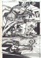 Carpe Noctem #2 p.18 - Batman Action vs. Monster - Signed Comic Art
