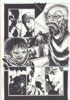 Batman Undead #1 p.15 - Batman and Ghouls - Signed Comic Art