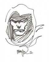 Spectre Portrait Sketch - Signed Comic Art