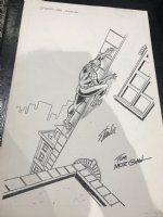 Spider-Man Wall-Crawling Slick Ad - Signed by Stan Lee! Comic Art