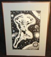 Captain Marvel Commission - Signed Comic Art