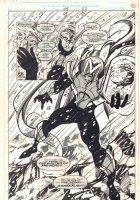 Alpha Flight #108 p.22 - Master of the World and Brain Drain Splash - 1992 Comic Art
