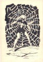 Spider-Woman Full Figure Commission - 1986 Signed Comic Art