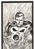 Punisher Pin-Up - 1990 Signed Comic Art