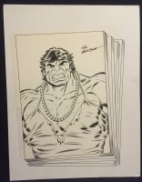 Hulk in Drag Bust - Signed Comic Art