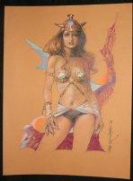 Sexy Sci-Fi Babe Color Piece - 2008 Signed Comic Art