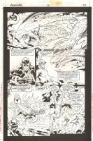 Green Lantern / Flash: Faster Friends #2 p.37 - Kyle Rayner, Jay Garrick, & Wally West vs. Monsters - 1997 Comic Art