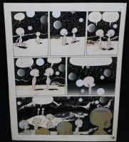 Lunar Tunes p.21 - LA - Comes with Pre Press Page - Wood's Last Comics Work  Comic Art