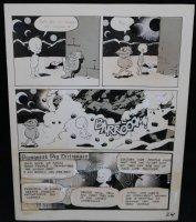 Lunar Tunes p.27 - LA - Comes with Pre Press Page - Wood's Last Comics Work  Comic Art