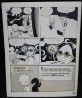 Lunar Tunes p.30 - LA - Comes with Pre Press Page - Wood's Last Comics Work  Comic Art
