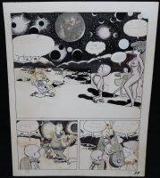 Lunar Tunes p.37 - LA - Comes with Pre Press Page - Wood's Last Comics Work  Comic Art