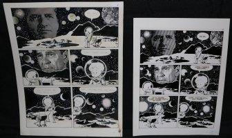Lunar Tunes p.11 - LA - Comes with Pre Press Page - Wood's Last Comics Work Comic Art