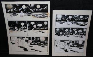 Lunar Tunes p.14 - LA - Comes with Pre Press Page - Wood's Last Comics Work Comic Art