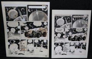 Lunar Tunes p.35 - LA - Comes with Pre Press Page - Wood's Last Comics Work Comic Art