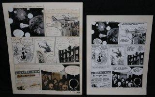 Lunar Tunes p.41 - LA - Comes with Pre Press Page - Wood's Last Comics Work Comic Art