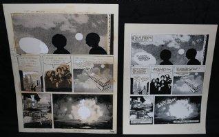 Lunar Tunes p.42 - LA - Comes with Pre Press Page - Wood's Last Comics Work Comic Art