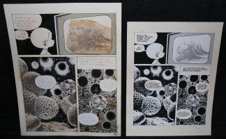 Lunar Tunes p.43 - LA - Comes with Pre Press Page - Wood's Last Comics Work Comic Art