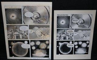 Lunar Tunes p.44 - LA - Comes with Pre Press Page - Wood's Last Comics Work Comic Art