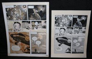 Lunar Tunes p.46 - LA - Comes with Pre Press Page - Wood's Last Comics Work Comic Art