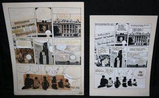 Lunar Tunes p.47 - LA - Comes with Pre Press Page - Wood's Last Comics Work - End Page Comic Art