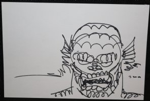 Abomination Sketch - Signed Comic Art