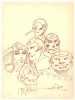 Metal Men Team Portraits Drawing - 1975 Signed Comic Art