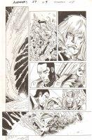 Avengers #27 p.9 - Thor, Ms. Marvel, & War Machine - 2012 Comic Art