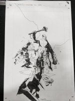 Frankenstein Underground #3 Cover - 2014 Signed Comic Art