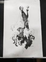 The Masque of the Red Death - Signed Comic Art