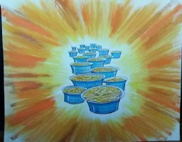 Aladdin - Large Art Color Board #32 Pots of Gold Comic Art