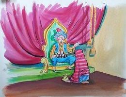 Aladdin - Large Art Color Board #22 Sultan and Princess Comic Art