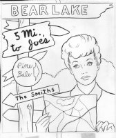 I Love Lucy  Coloring Book Art - Lucille Ball with map Comic Art
