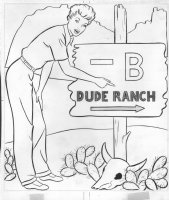 I Love Lucy  Coloring Book Art - Lucille Ball, Dude Ranch Comic Art