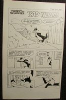 1970's Tweety and Sylvester #107 Lot of 3 pgs. Title Splash LA Comic Art