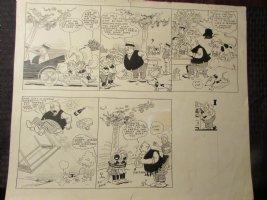 1930 Heinrich Sunday Comic Strip by Dean 20.5x17 LA Comic Art