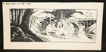 A Man Alone Pic 4 4974 - Exploding Bridge  Comic Art