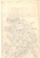 Aces Wild: The Rose in the Tiger's Shadow Pencil Piece  Comic Art