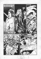Dances with Demons pgs. 18 & 19 - Great monster pages by 'Walking Dead' Artist - 1993 Signed - Sold as a pair! Comic Art