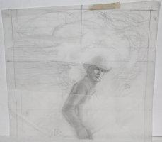 Bat Lash Detailed Pencil Prelim Comic Art