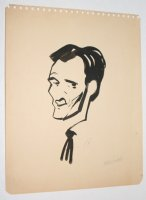 Ardis Hughes B&W Portrait - Signed Comic Art