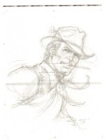 Bat Lash Smoking Portrait on ''Signed Limited Edition'' Paper - Signed Comic Art