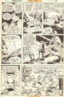 Hercules Unbound #1 p.9 - Lots of Heroes & Ares - 1975 Comic Art