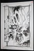 Ghost Rider / Blaze: Spirits of Vengeance #12 p.8 - LA - Johnny Blaze and Ghost Rider Action Splash - 1993 Signed Comic Art