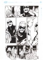 Extraordinary X-Men #10 p.9 - Storm, Old Man Logan, Anole, & Others - 2016 Comic Art