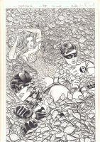 Batman '66 #26 Cover - Batman and Robin vs. Poison Ivy - 2015 Signed Comic Art