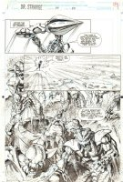 Doctor Strange, Sorcerer Supreme #57 p.20 - Aliens Splash - 1993 Comic Art