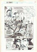 Doctor Strange, Sorcerer Supreme #55 p.11 - Two Doctor Stranges - 1992 Comic Art